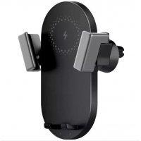 Беспроводное ЗУ+Держатель Xiaomi ZMI Wiriless Charging Car Holder WCJ10 Черный