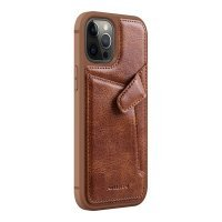 Бампер iPhone 12/12 Pro Nillkin Aoge Leather Case Эко-Кожа Коричневый