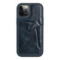 Бампер iPhone 12/12 Pro Nillkin Aoge Leather Case Эко-Кожа Синий