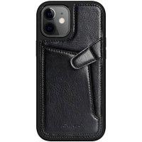 Бампер iPhone 12 mini Nillkin Aoge Leather Case Эко-Кожа Черный