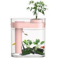 Аквариум Xiaomi Descriptive Geometry Amphibious Fish Tank + Humidifier  (HF-JHYGZH002) Розовый