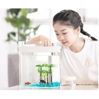 Аквариум Xiaomi Descriptive Geometry Amphibious Fish Tank (HF-JHYGQC001) Белый