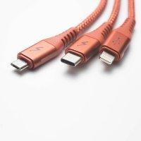 Кабель  3in1 Solove USB/Tipe C 120cm (DW1)  Красный