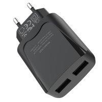 Сетевой Адаптер Hoco C52A Travel Charger 2.1A  (Черный)