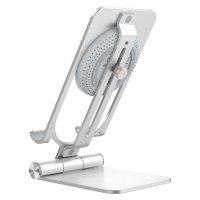 Держатель для телефона+Зарядка Nillkin PowerHold Mini Wireless Charging Stand (NKT01) Серебро