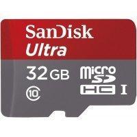 Карта памяти SanDisk Ultra microSDHC 32Gb (Class 10 UHS-I)