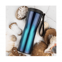 Термос Xiaomi Kiss Kiss Fish OLED с дисплеем 430ml Синий