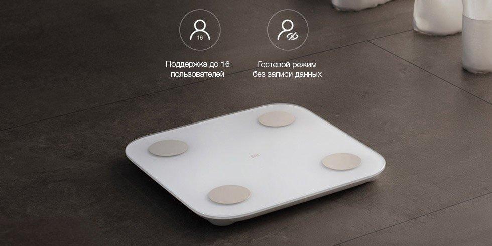 Умные весы Xiaomi Mi Body Fat Scale 2 (белый)