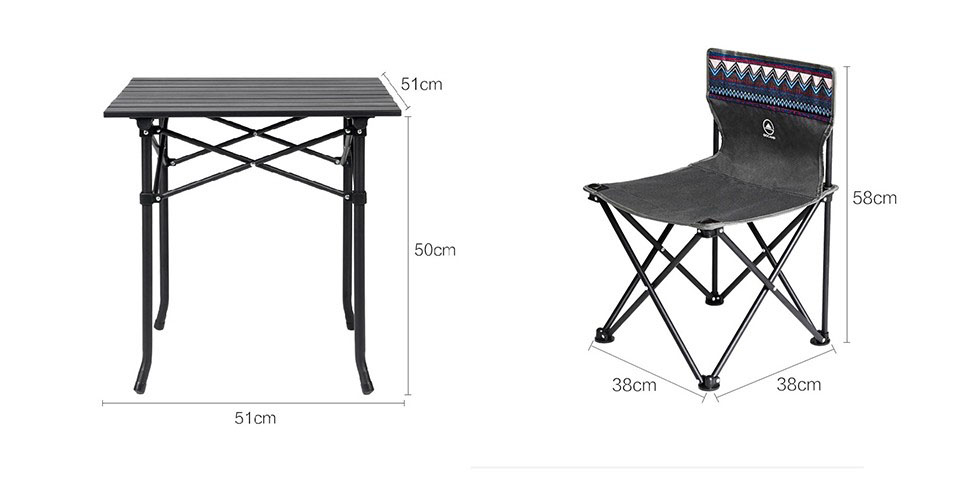Набор Xiaomi GOCAMP Folding Table And Chair Set